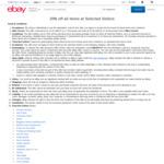 20% off 41 Selected Sellers @ eBay