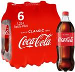 Coca Cola Coke Classic and No Sugar 6 x 1.25L $9 + Delivery (Free with Prime / $49 Spend) @ Amazon AU