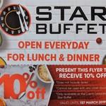 [NSW] 10% Off Star Buffet Cabramatta (e.g. Dinner M-T $23.22 F-S $25.02) @ Cabra Leagues