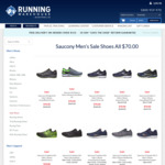 Saucony Shoes over 50% off - All $70.00 @ Running Warehouse