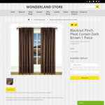 Pinch Pleat Curtains from $16.50 (140cm X 230cm) One Piece + Shipping @ Wonderland Store