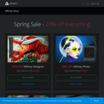 Affinity Photo / Digital Design Software 20% off