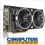 MSI RX580 8GB Armor OC PCIe Video Card $263.20 (2 Free Games from AMD) + Delivery (Free with eBay Plus) @ Computer Alliance eBay
