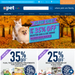 Up to 35% off Selected Dog & Cat Range @ PETstock