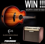 Win a Faith Blood Moon Venus Guitar & Fishman Loudbox Mini Bluetooth Amplifier Worth Over $2,600 from Faith Guitars