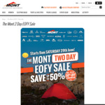 [ACT] The Mont 2 Day EOFY Sale, Save 10-50%, In-store only