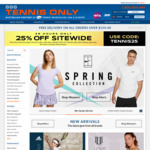 25% off Sitewide @ Tennis Only