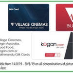 10% off Event/Village Cinemas, Virgin Australia, Good Food, Kogan or Kathmandu Gift Cards @ Woolworths (5% Price Beat @ OW)