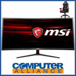 "[eBay Plus] 34"" MSI OPTIX MAG341CQ Curved Gaming Monitor (100Hz, VA, UWQHD) + MSI Gaming Chair $670.65 @ Computer Alliance eBay"