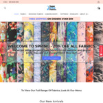 20% off Every Fabric Storewide (Fabric from $3.99/Metre) @ Super Cheap Fabrics + Free Shipping on Orders over $99