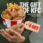$4 off Your Order (Min Spend $5) @ KFC App
