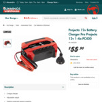 Projecta 12V 4amp Battery Charger $55.90 @ Bunnings