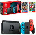 Nintendo Switch Console (2019) with Mario Kart 8 Deluxe Download + Super Mario Odyssey $424.96 Delivered @ The Gamesmen eBay