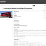 [VIC, QLD] Skybus to Melbourne Airport $11/$21, Avalon Airport $21/$40, Gold Coast $13/$25 (One Way/Return) with UnionPay