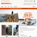 Merrell - Further 20% off Sale Styles - Free Shipping for Orders over $150