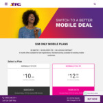 50% off for First 6 Months Mobile Plans (E.g. $12.50/Mth for 14GB) @ TPG Mobile (New Registrations Only)