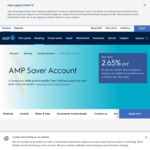 AMP Saver Account 2.65% pa for 6 Months Then 1.05% pa (New Customers Only)