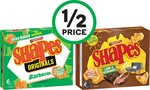 ½ Price Arnott's Shapes 160-190g $1.60,  Byron Bay Cookies Pouch 100g $1.25, Sanitarium Up & Go 6 Pack $4.85 @ Woolworths