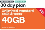 Prepaid Voucher Code: EXTRA LARGE (30 Days | 40GB) - $0.99 (Was $4.90) @ Kogan Mobile (New Customers Only)