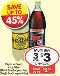 3x 1.25L Pepsi or Solo $3 at Ritchies Supermarkets