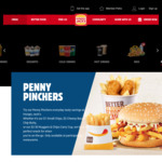 Hungry Jacks Penny Pinchers (Small Chips $1, Small Sundae $2, Burgers $2- $3)