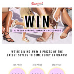 Win 1 of 3 E-Vouchers Valued at up to $300 from Famous Footwear