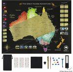 Red Rover Australia Scratch Map (80cm X 62cm) $29.90 (Save $10) + Delivery (Free with Prime/ $39 Spend) @ Netski via Amazon AU