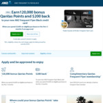 ANZ Frequent Flyer Black: 120,000 Bonus Qantas Points + $200 Cash Back ($3000 Spend in First 3 Months) - $425 Annual Fee