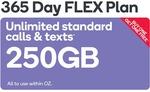 Buy 1 Get 1 Free - Large $265 (250GB) or Extra Large $355 (500GB) 365 Day Flex Plans @ Kogan Mobile