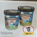Ben & Jerry's 458ml Selected Varieties $8 @ IGA