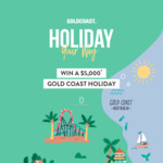 Win a Gold Coast Holiday for 4 Worth Up to $5,646 from Destination Gold Coast