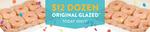 [VIC, NSW, QLD, WA] 12 Original Glazed Doughnuts $12 (Was $21.95) @ Krispy Kreme