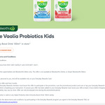 Everyday Rewards: Free Vaalia Probiotics Kids Immunity Boost Drink 100ml @ Woolworths (In Store)