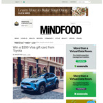 Win a $300 VISA Gift Card from MiNDFOOD