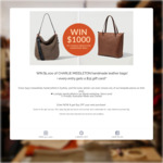 Win $1,000 Worth of Leather Bags from Charlie Middleton