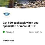 CommBank Rewards: Spend $80, Get $20 Cashback @ BCF