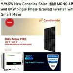 [QLD] 9.96kW New Canadian Solar Hiku MONO (415W *24 Panles) with Smart Meter Fully Installed for $5789 @ Reliance Solar
