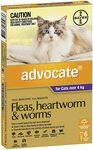 Cats 4kg+: Advocate Flea & Worm Treatment 6pk $57.39 ($51.65 S&S), Drontal Allwormer Tablets 4pk $21.69 ($19.52 S&S) @ Amazon AU