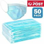 50-Pack Disposable 3-ply Face Mask - $4.88 (was $69.95) + Delivery @  CrazySales.com.au