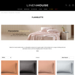 Flannelette Bed Sheets - Single $40 / Queen $60 / King $70 + $10 Shipping ($0 with $150 Spend) @ Linen House