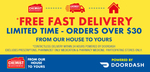 Free Delivery within 24 Hours (by DoorDash) with $30+ Spend on Selected Items at Chemist Warehouse