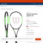 Wilson Blade 98 v6 (Non CounterVeil) Prestrung w/Wilson Sensation Racquet $149.95 + Delivery ($0 with $150 Order) @ TennisOnly