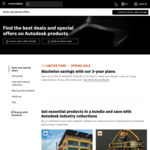 15% off Autodesk Software: AutoCAD $2,504 1-Year, $6,758 3-Year | AutoCAD LT $553 1-Year, $1,492 3-Year @ AutoDesk