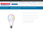 Laser Smart RGB Bulb 10W E27 8 Pack for $64.99 Delivered @ Costco (Membership Required)
