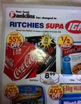 18x375ml Cans of Coke $8.99 (50c/can,>55% OFF, $1.33/Litre) Ritchies Supa IGA (Taren Point NSW)
