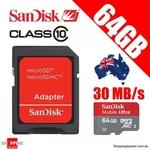 SanDisk Micro SD Class 10 64GB $59.95, 32GB $29.95 Extreme SD $32.95 64GB USB $38.95 $1 Shipping