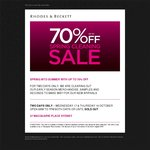 Rhodes and Beckett - up to 70% off Early Season, Samples and Seconds. 27 Macquarie Pl, Sydney