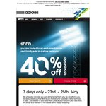 40% OFF Adidas Family & Friends Sale - In Store (23 May to 25 May)