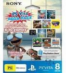PlayStation Vita Mega Pack - 10 Games and 8GB Memory Card for $48 at Big W (Preorder)