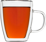 Set of 8 Double Walled 300ml Tea/Coffee Mugs with Handles for $33.74 Delivered